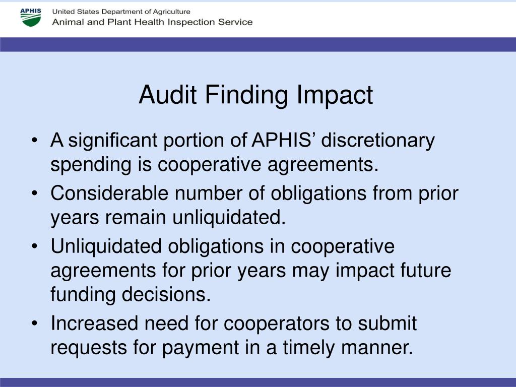 Audit Finding Impact