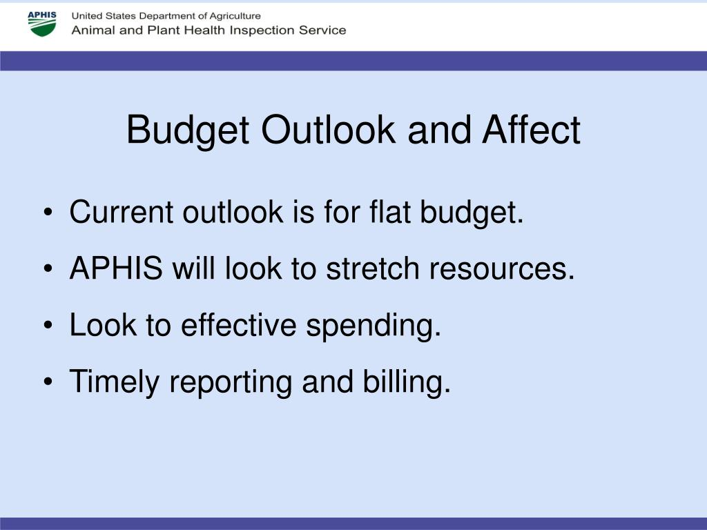 Budget Outlook and Affect