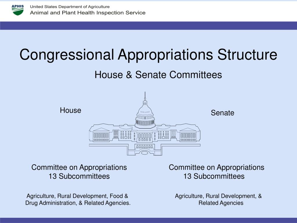 Congressional Appropriations Structure