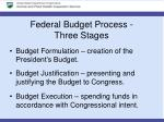 federal budget process three stages