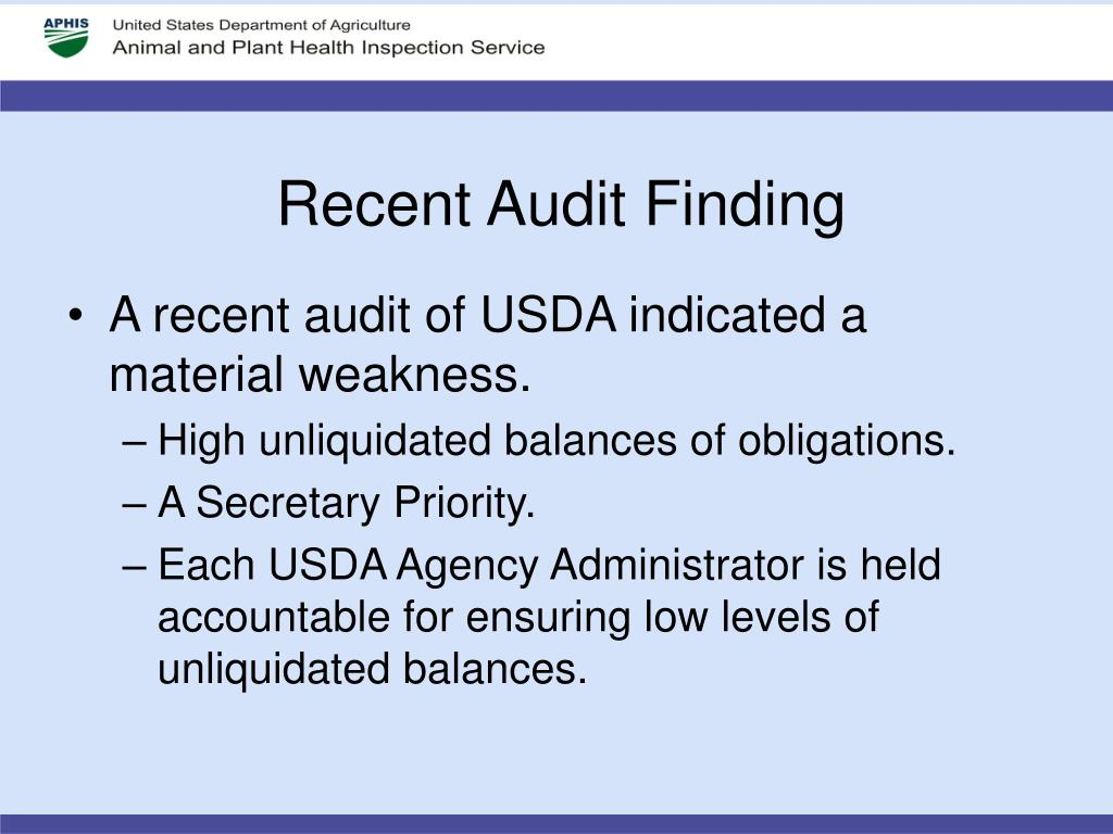 Recent Audit Finding