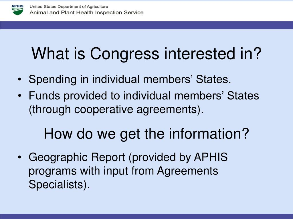 What is Congress interested in?