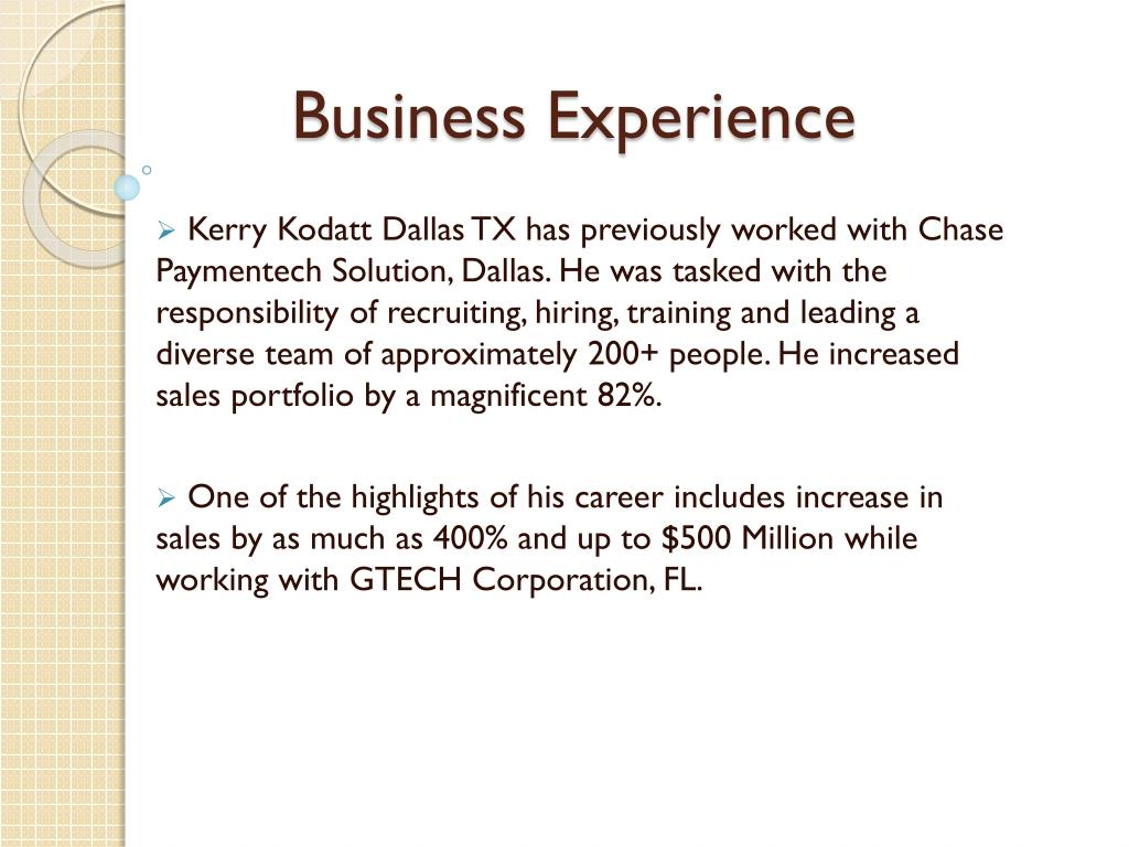 Business Experience