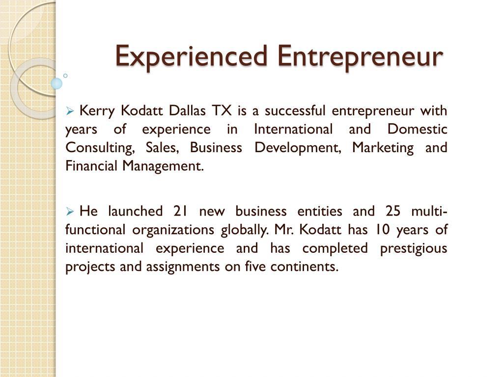 Experienced Entrepreneur