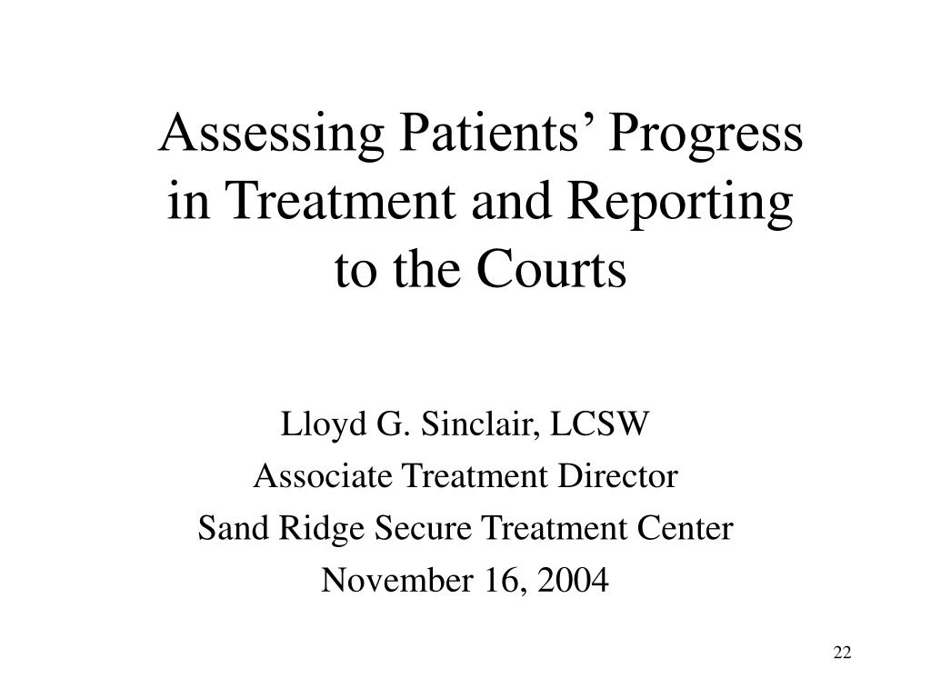 Assessing Patients' Progress