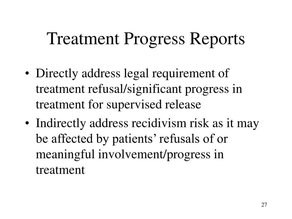 Treatment Progress Reports