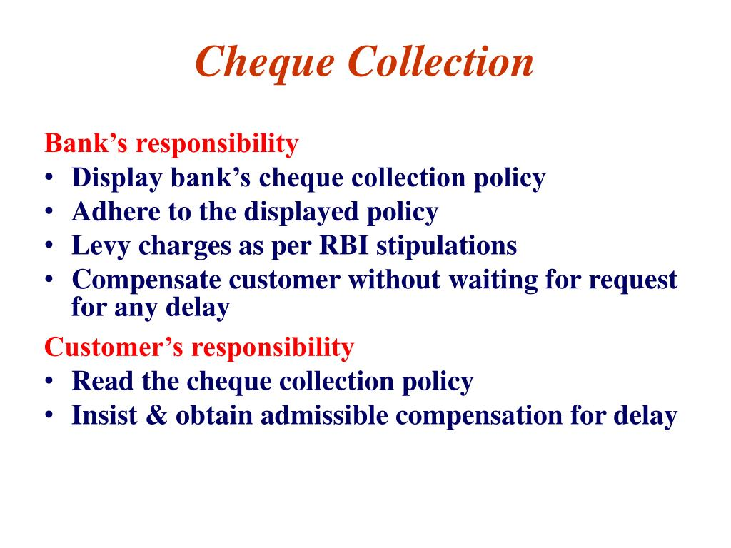 Cheque Collection