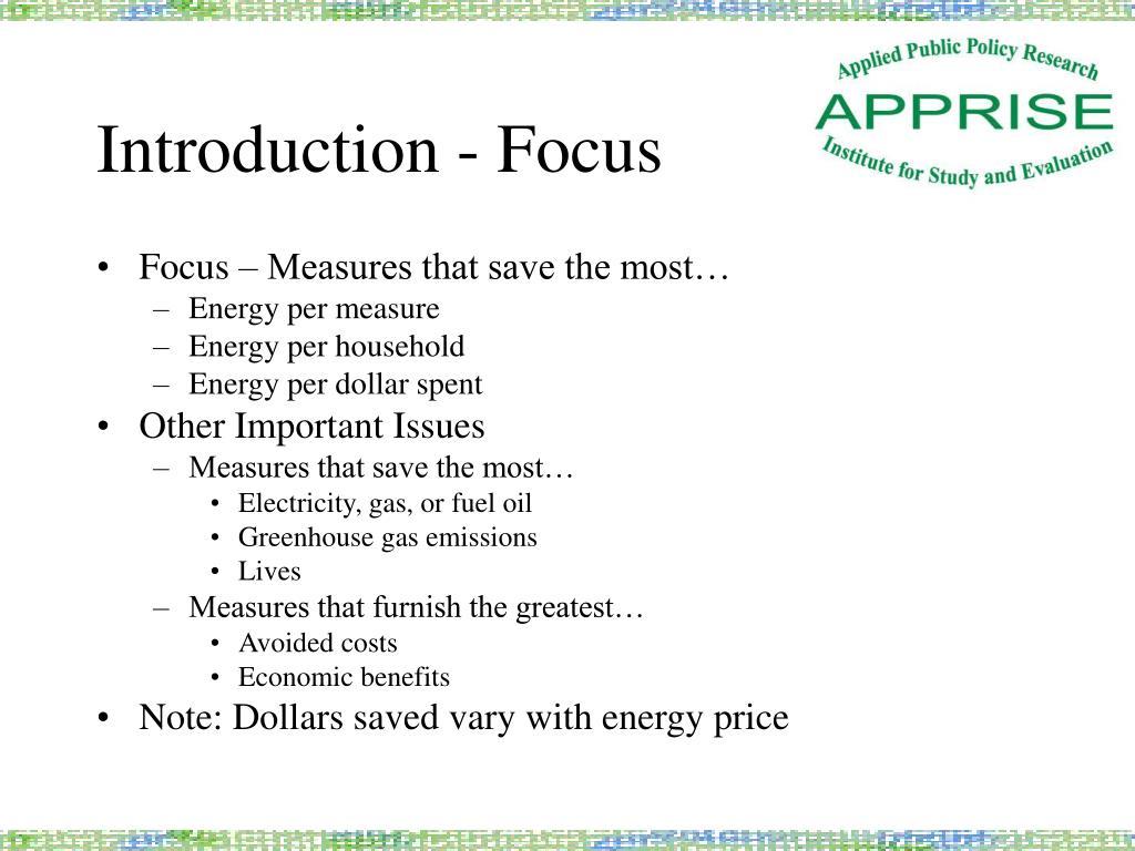 Introduction - Focus