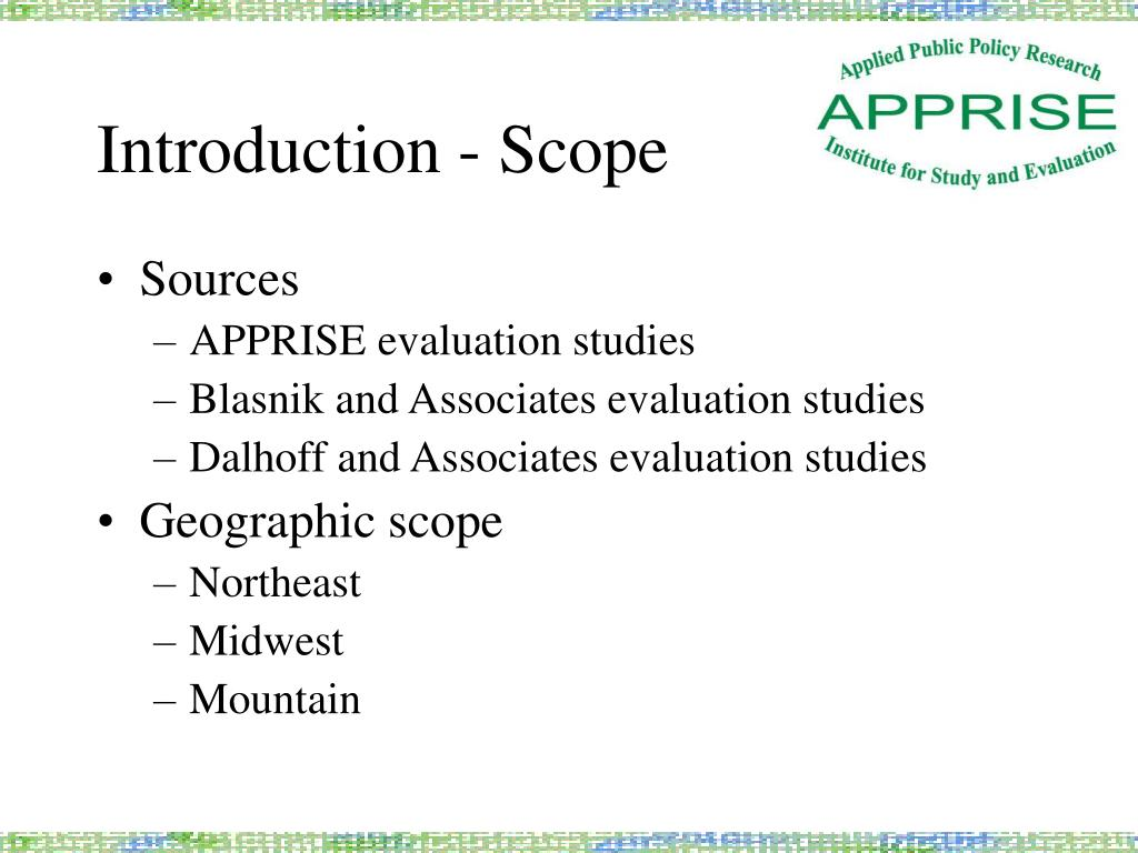 Introduction - Scope