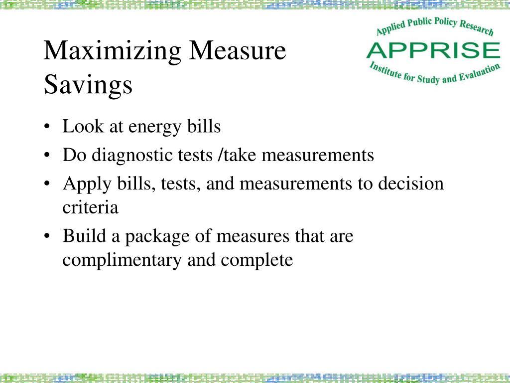 Maximizing Measure
