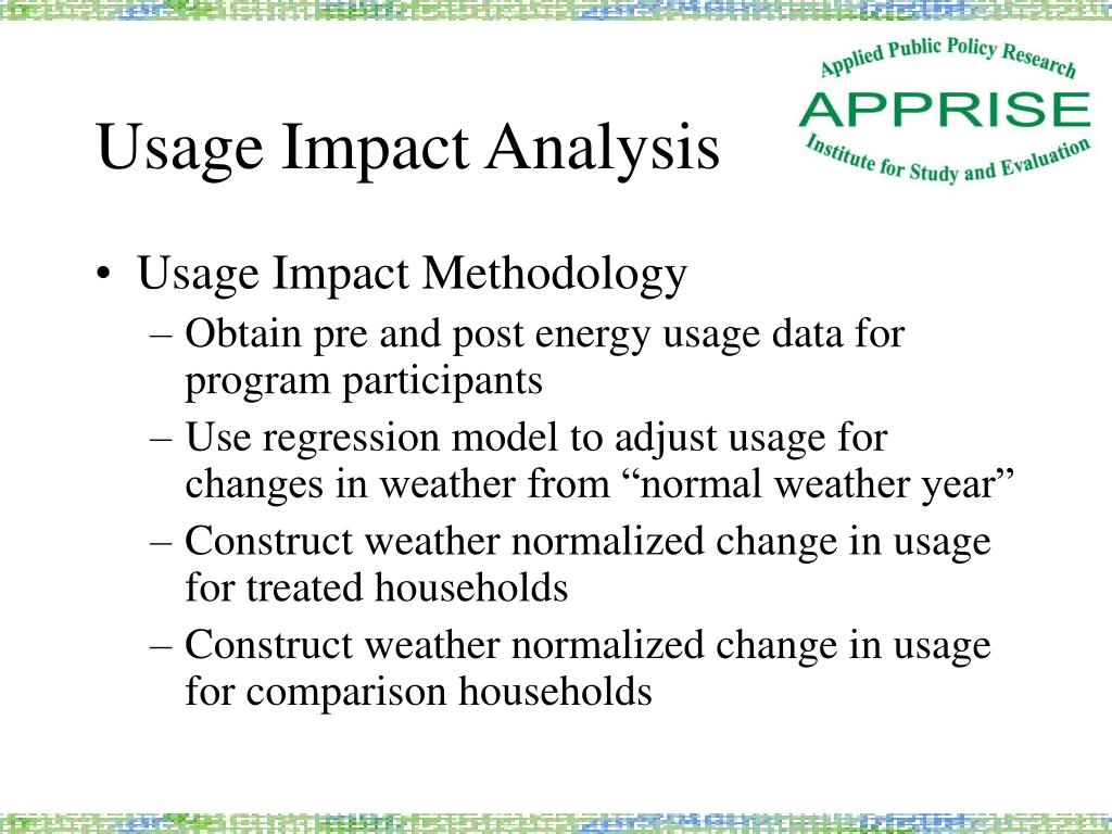 Usage Impact Analysis