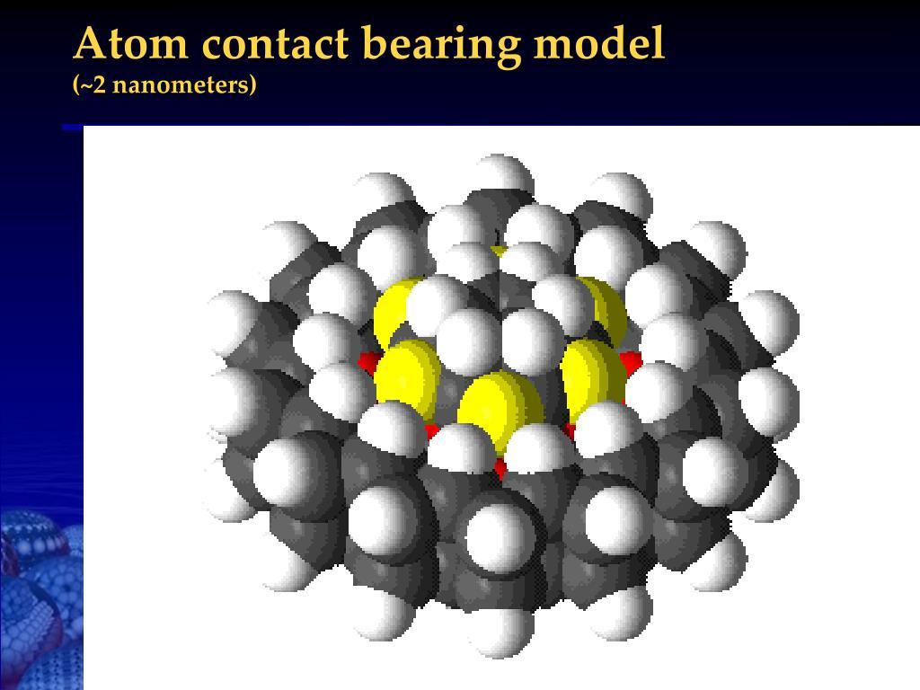 Atom contact bearing model
