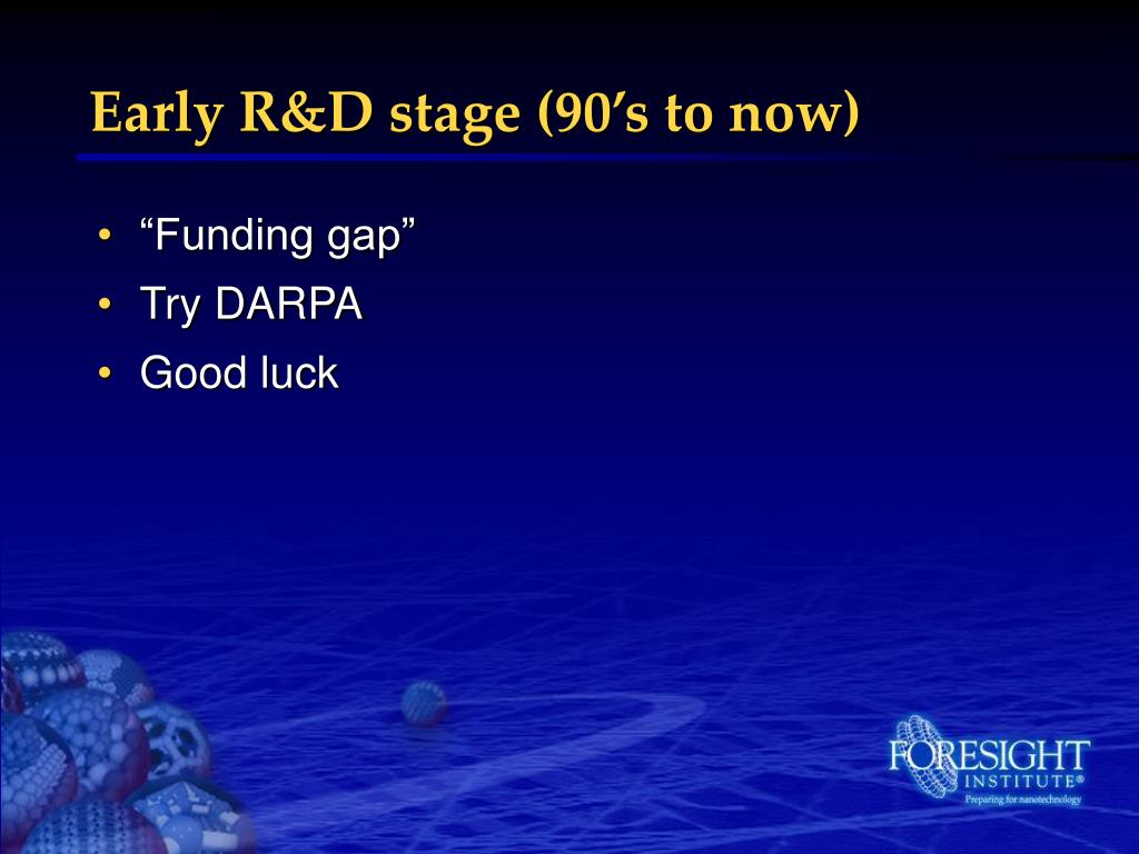Early R&D stage (90's to now)