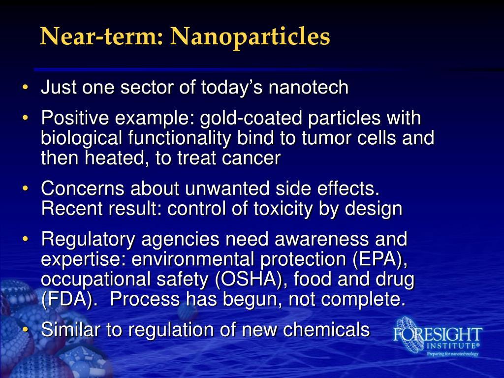Near-term: Nanoparticles