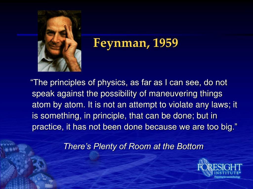 Feynman, 1959