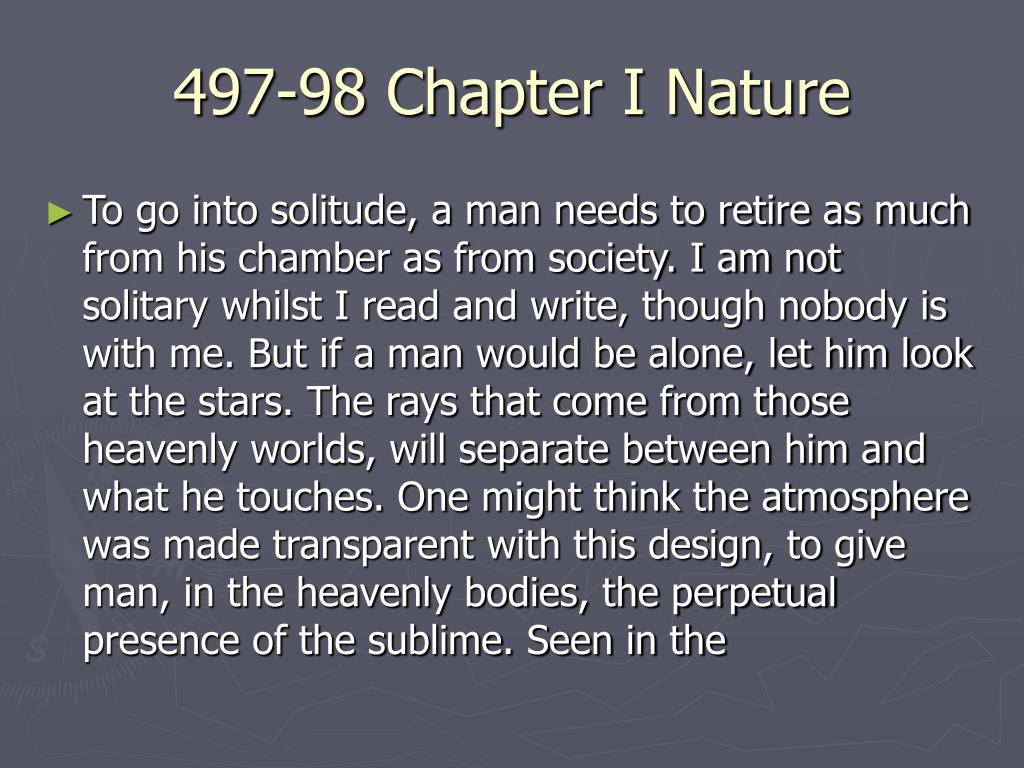 497-98 Chapter I Nature