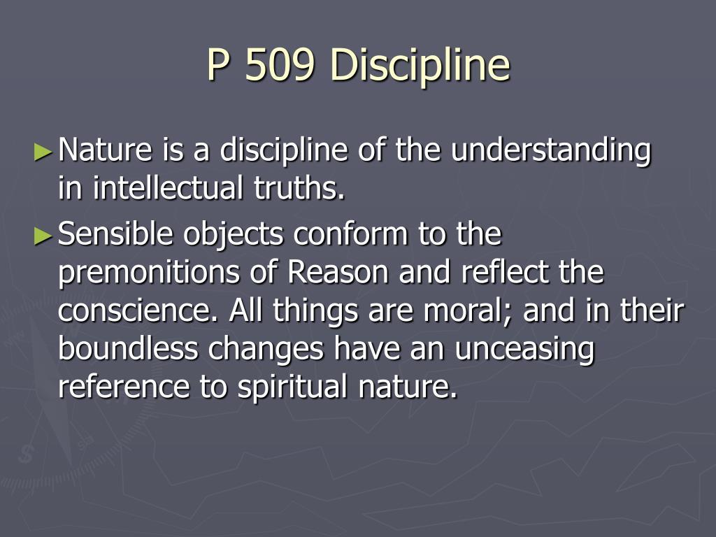 P 509 Discipline