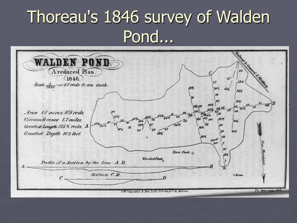 Thoreau's 1846 survey of Walden Pond...