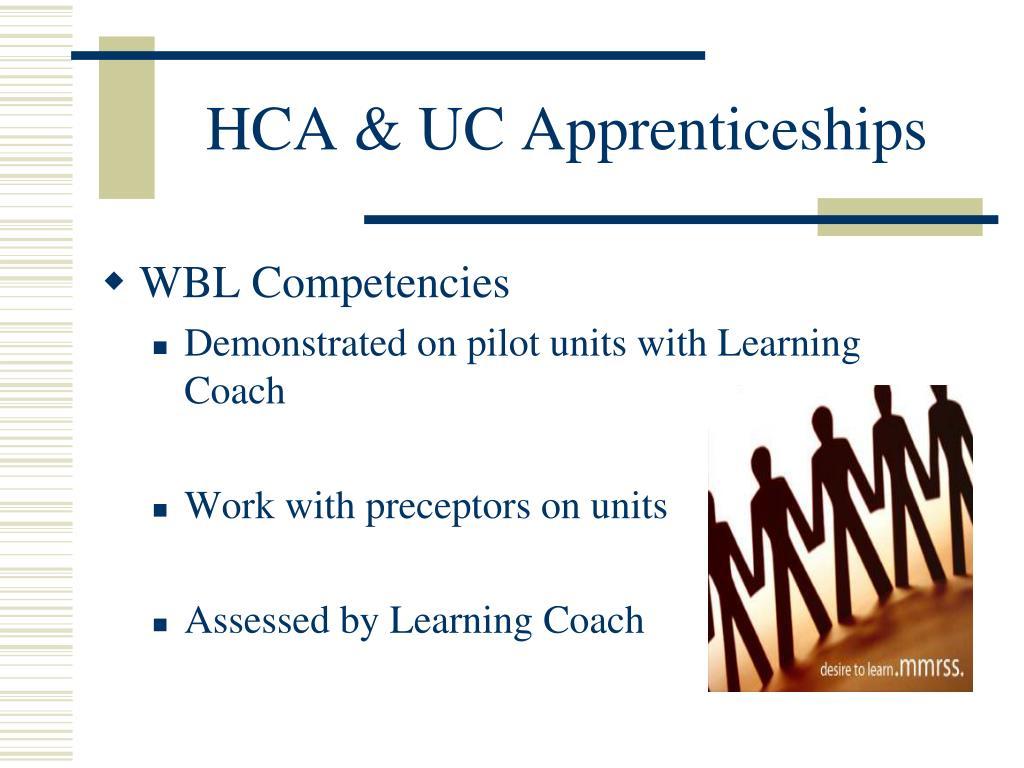 HCA & UC Apprenticeships