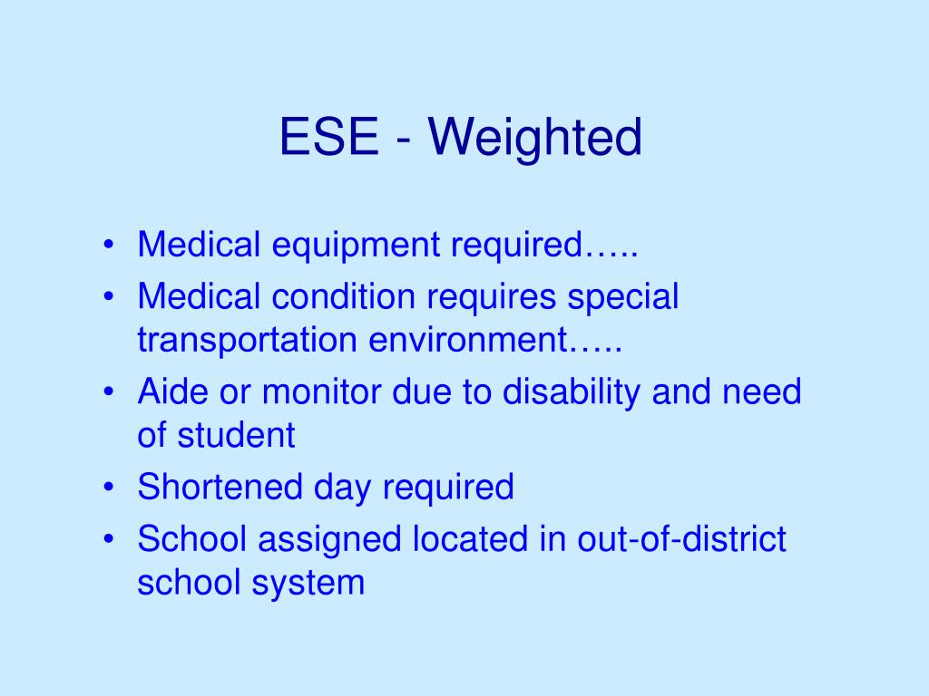 ESE - Weighted