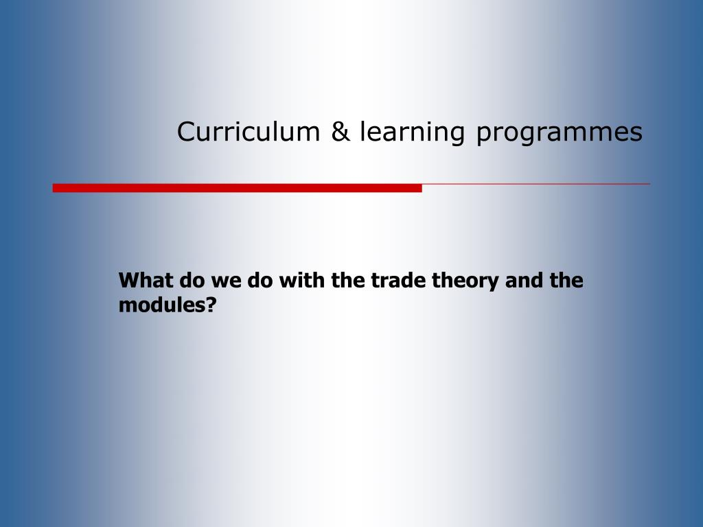 Curriculum & learning programmes