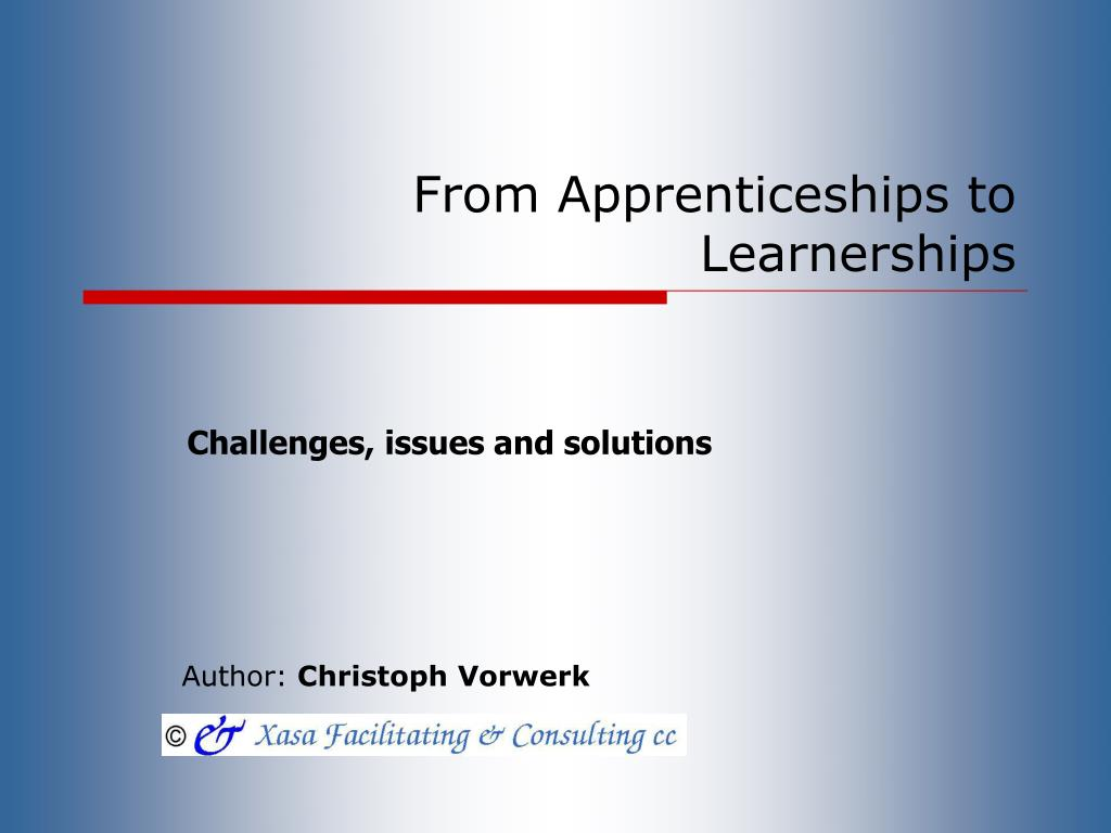From Apprenticeships to Learnerships