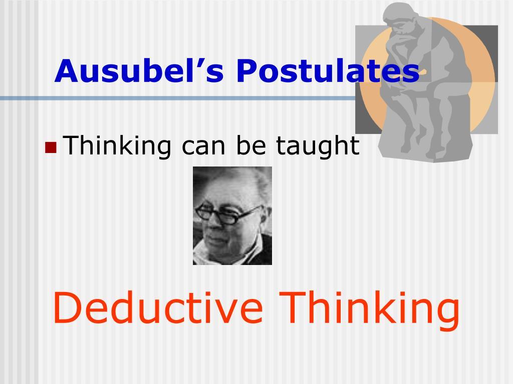 Ausubel's Postulates