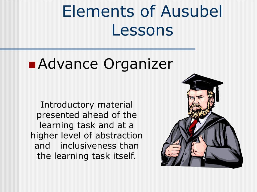 Elements of Ausubel Lessons