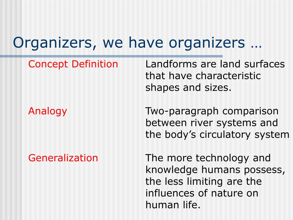 Organizers, we have organizers …
