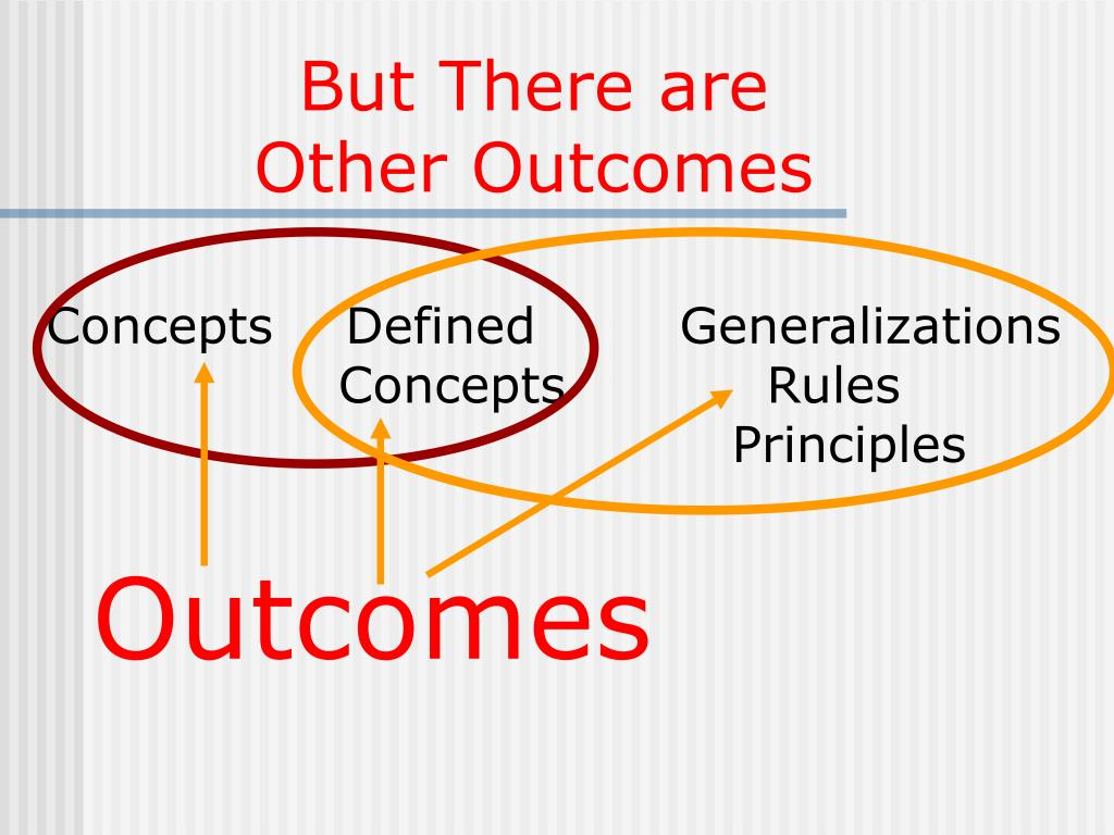 But There are Other Outcomes