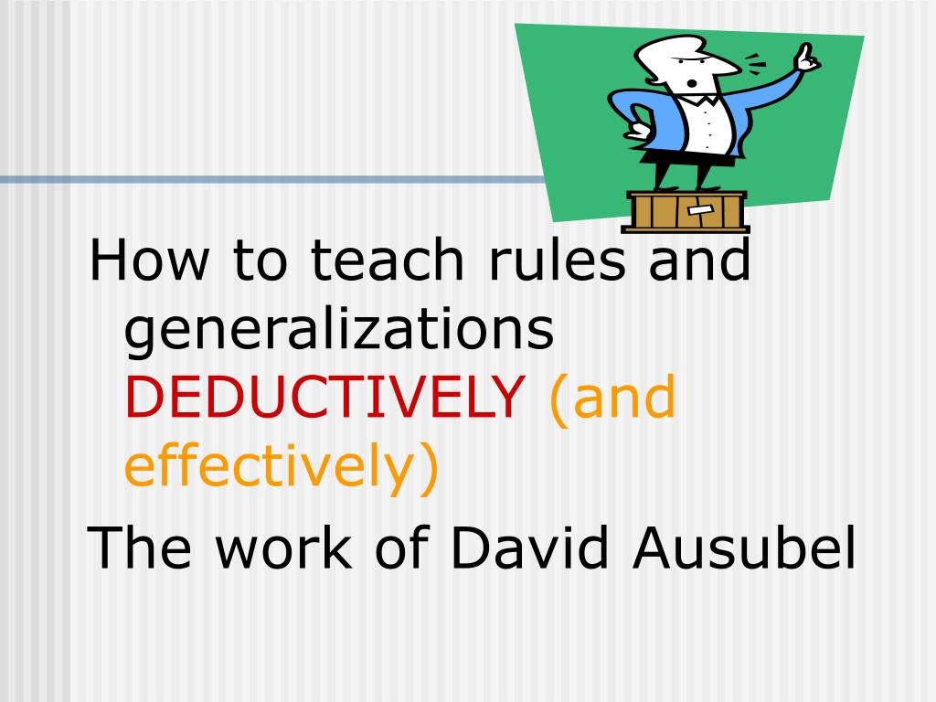 How to teach rules and generalizations