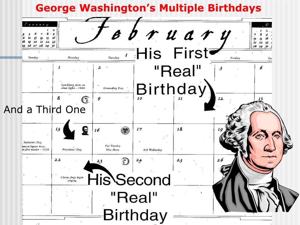 George Washington's Multiple Birthdays