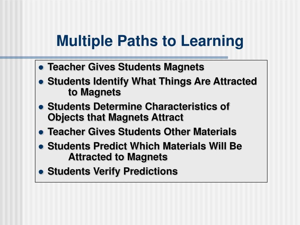 Multiple Paths to Learning