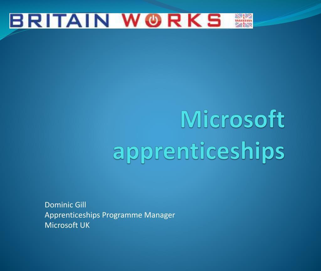 Microsoft apprenticeships