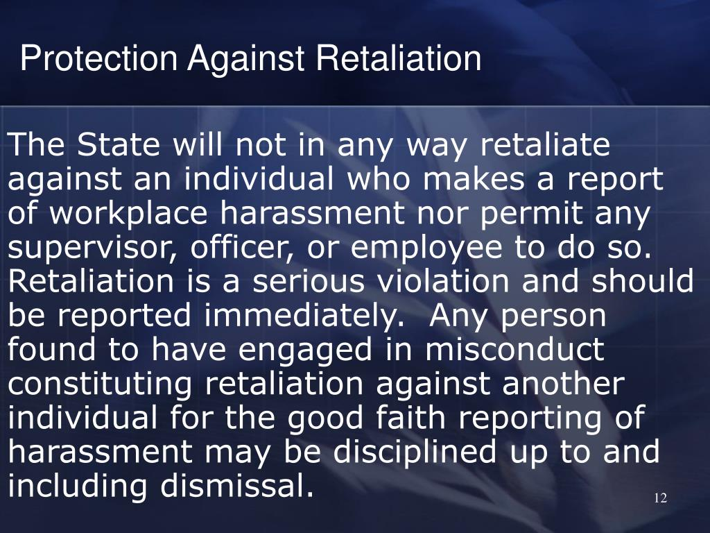 Protection Against Retaliation