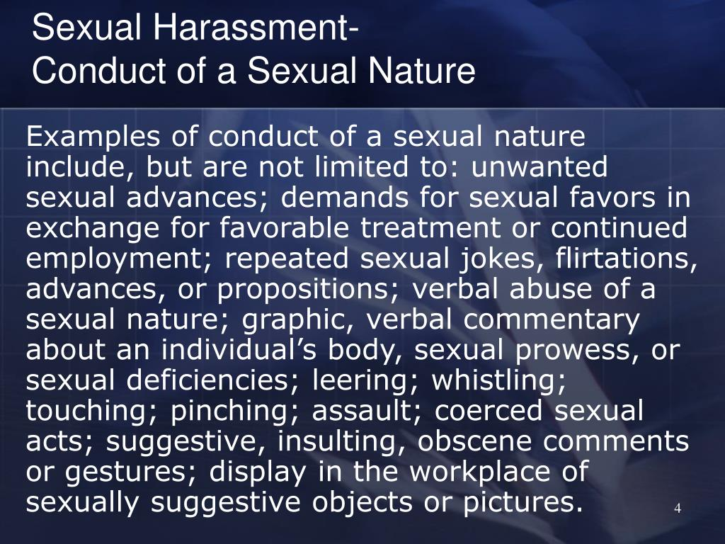 Sexual Harassment-