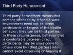 third party harassment