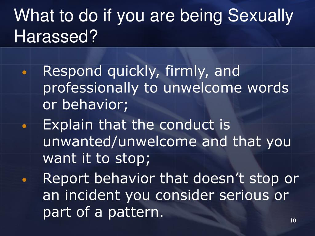 What to do if you are being Sexually Harassed?