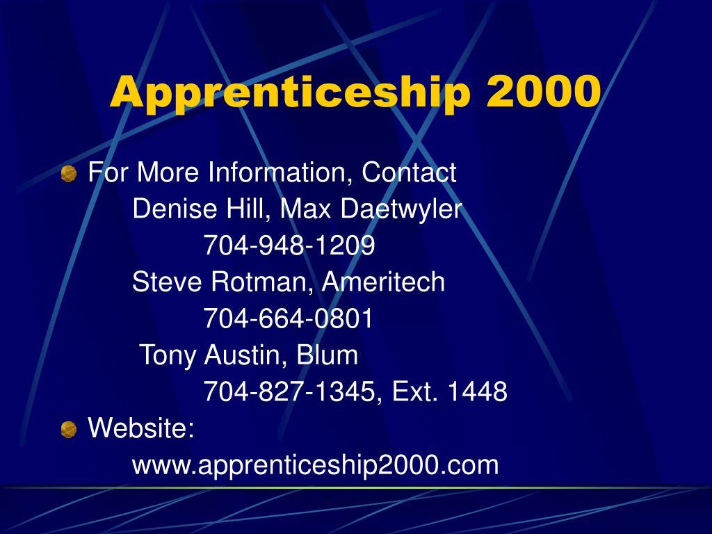 Apprenticeship 2000