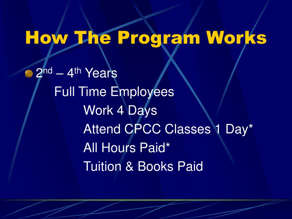 How The Program Works