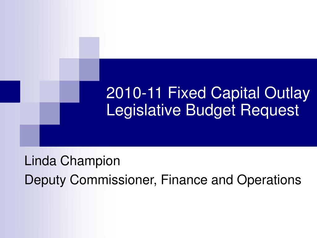 2010-11 Fixed Capital Outlay