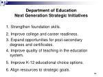 department of education next generation strategic initiatives