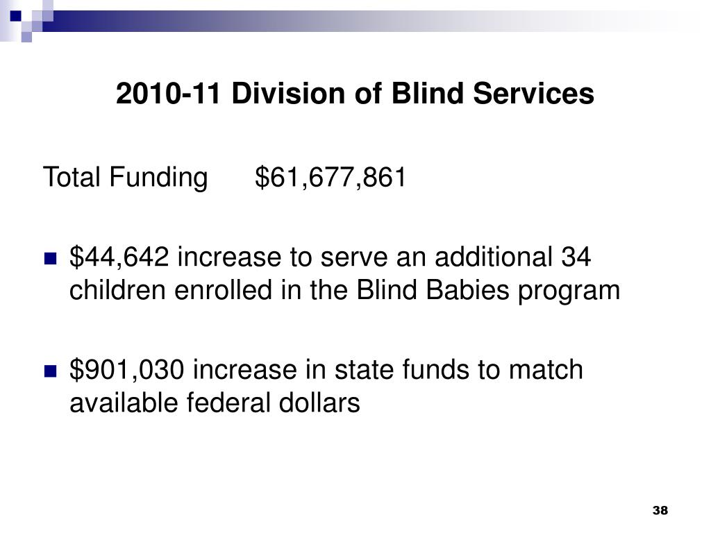 2010-11 Division of Blind Services