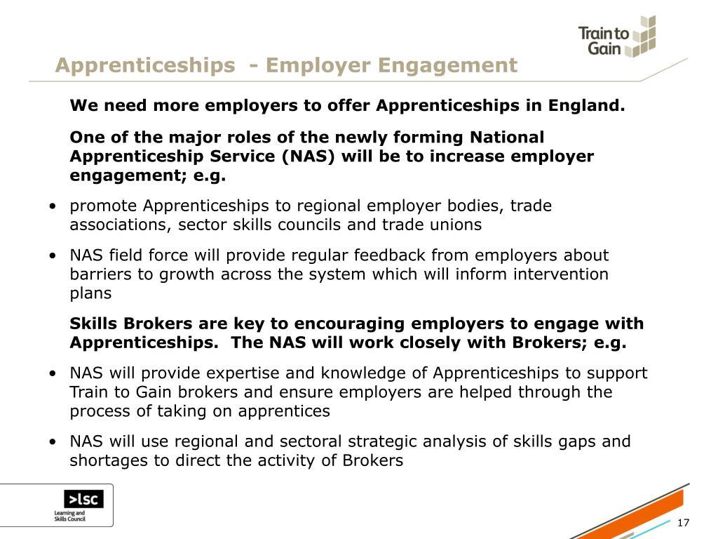 Apprenticeships  - Employer Engagement