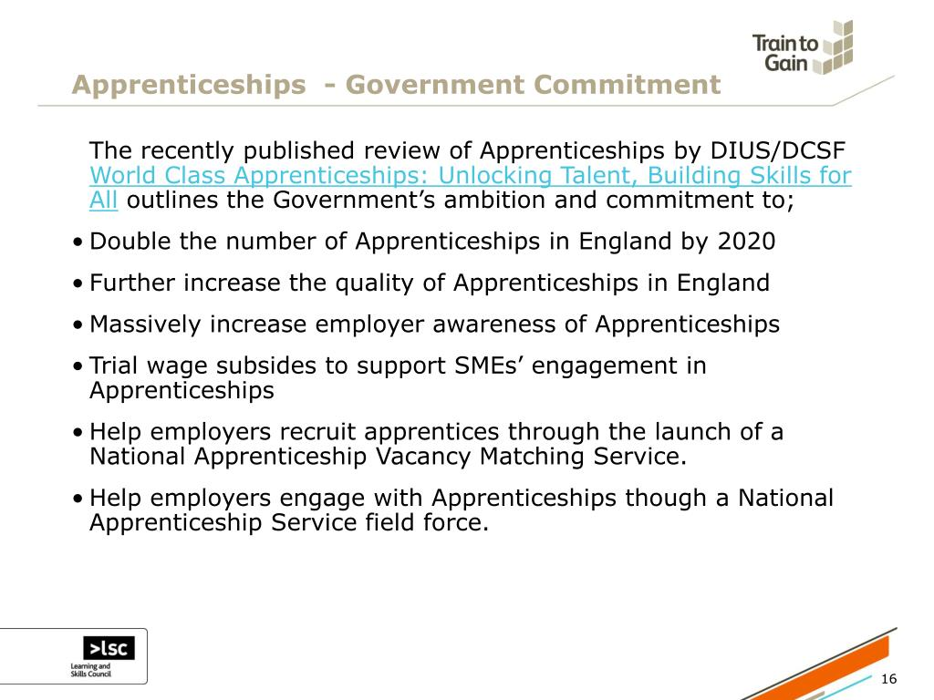Apprenticeships  - Government Commitment