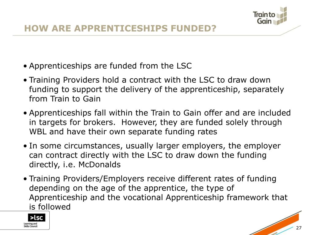 HOW ARE APPRENTICESHIPS FUNDED?