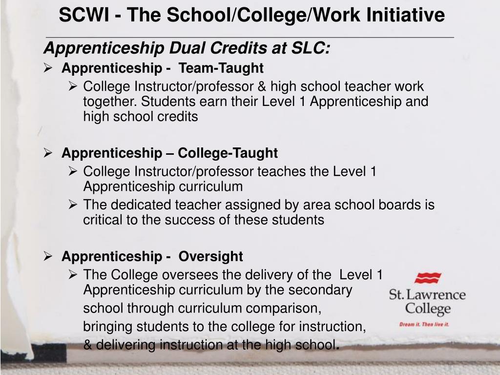 SCWI - The School/College/Work Initiative