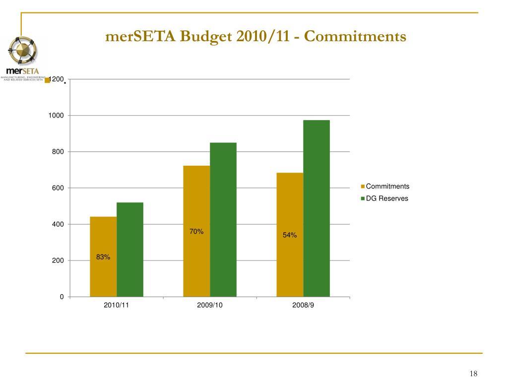 merSETA Budget 2010/11 -