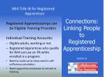 connections linking people to registered apprenticeship25