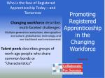 promoting registered apprenticeship in the changing workforce35